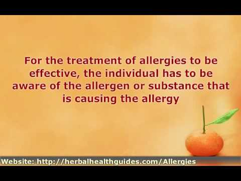 Natural Herbal Remedies for The Treatment of Allergies