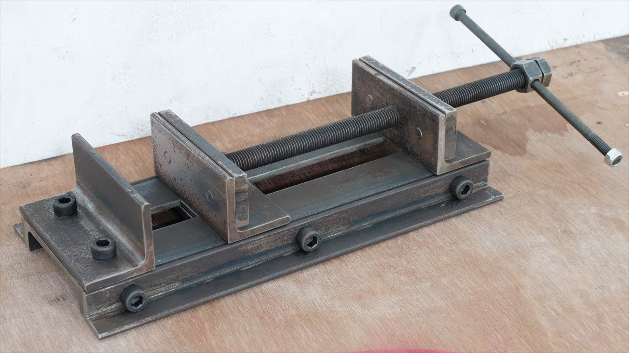 Make A Metal Drill Press Vise | Simple Diy Metal Drill Vise Without Welding | DIY