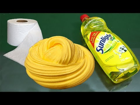 No Glue Paper Slime , Testing No Glue Paper Slime Recipe, Only 2 Ingredients Paper and Dishsoap
