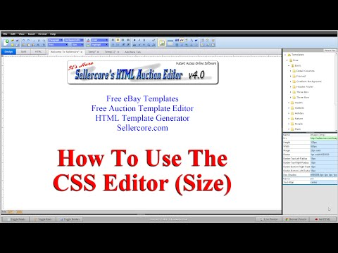 How To Change CSS Size Width and Height When Generating Free eBay Templates
