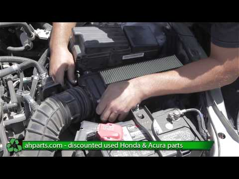 How to replace / change a Air Cleaner Box for a 2005 2006 2007 Honda Accord REPLACE DIY