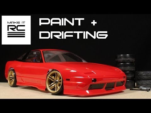 Budget RC Drift Build: Part 3 Painting + Mounting Body and Drifting