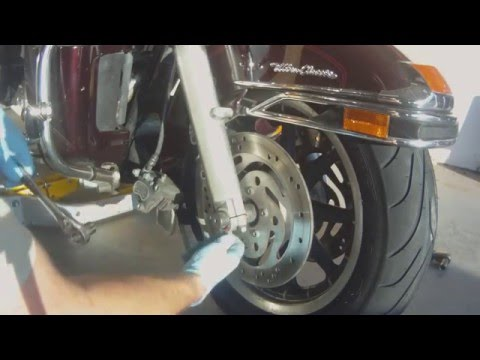 Harley Davidson Ultra Classic Front Wheel Removal Replacement