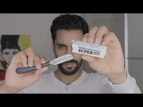 How To Shave With The Feather Artist Japanese Cut Throat Razor  | Muazo