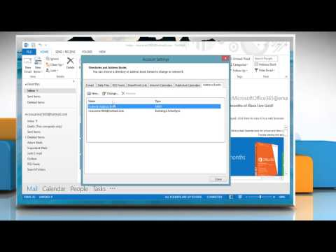 How to set the Contacts list in last name, first name format in Microsoft® Outlook 2013