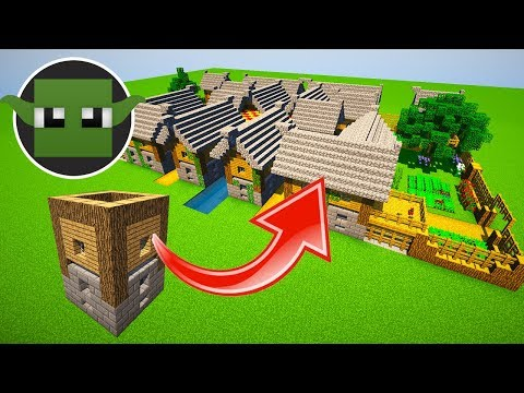 How to make a Town from a Minecraft 5x5 House