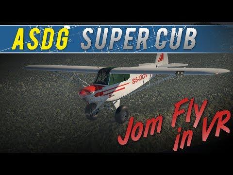 Jom Fly in VR - ASDG Piper Super Cub (X-Plane 11 Native VR)