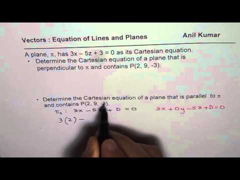 Find Parallel and Perpendicular Vector Planes Equation