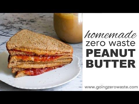 Easy, Zero Waste Creamy Peanut Butter!