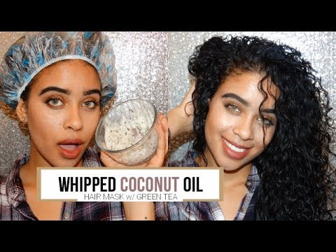 Hair Growth and Repair Mask: Whipped Coconut Oil w/ Green Tea