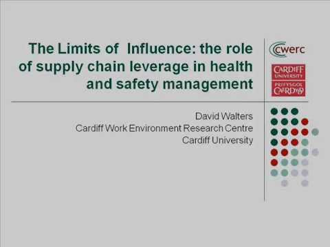 The limits of influence - The role of supply chain leverage in health and safety mgmt, Nov 2013