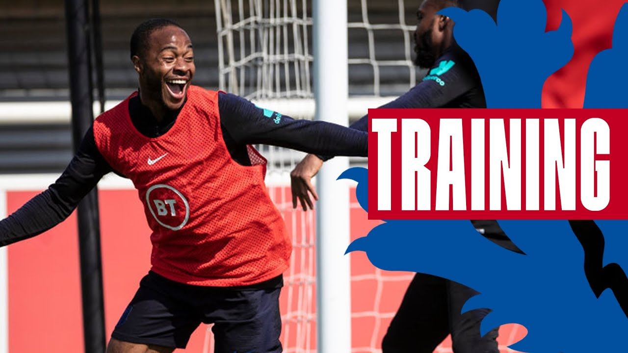 Cheeky Sterling Goal & North v South Game!   Inside Training   England