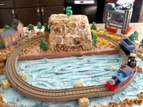 Thomas the train magic railroad cake.