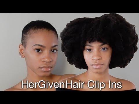 4C Hair Clip Ins on SUPER Short Hair | HerGivenHair