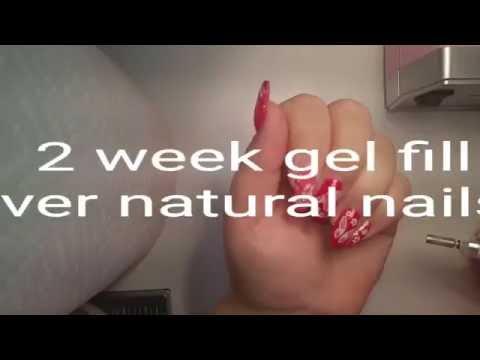 2 week gel fill over natural nails. Gel overlay