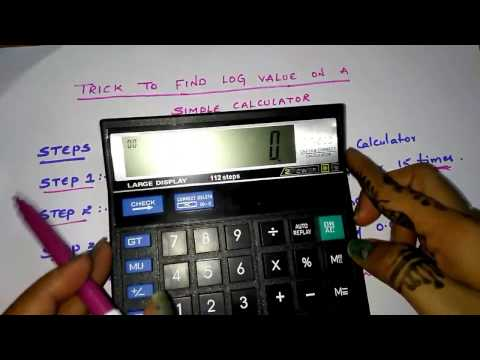 Trick to find logarithm values on a simple calculator