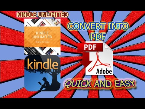 How to Convert most 📱💻 KINDLE E-BOOKS into PDF Format 📚📖