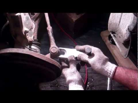 How to use a tie rod end removal tool