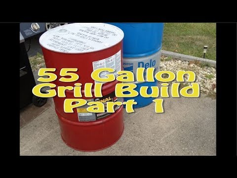 Today we begin building a 55 gallon drum grill.........
