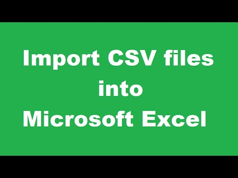 How to properly import CSV files into Microsoft Excel (Excel Tutorial #1)