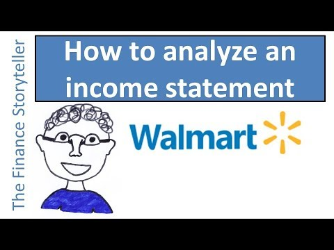 How to analyze an income statement - Walmart example (case study)