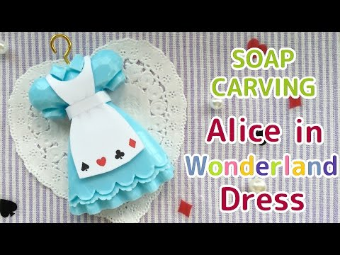 SOAP CARVING | Easy | Alice in Wonderland Dress | How to make | DIY