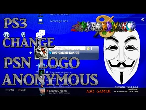 [PS3/CFW] How to change PSN logo (Anonymous)