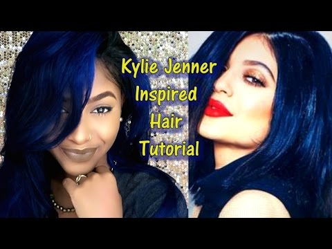 Kylie Jenner Inspired Blue Hair How to and Demo | EvaWigs