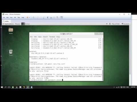 how to install and Configure NTP Server in centos 7