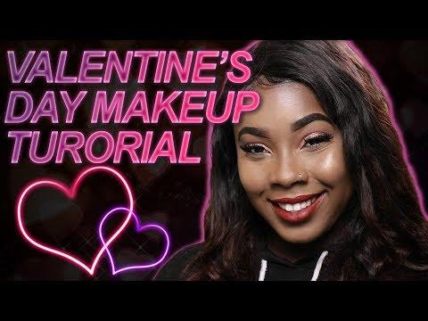 Valentines Day Makeup Tutorial (DARK SKIN)