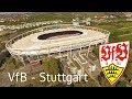 Mit Dem VfB Stuttgart In Der Mercedes Benz Arena In 4K Aerial View