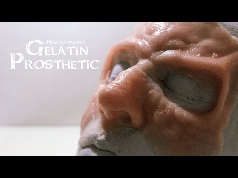 How to create a Gelatin Prosthetic (sculpt, mold, cast)