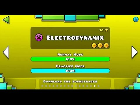 Geometry Dash | Level 15 | Electrodynamix | 1 attempt | (Insane) 100%
