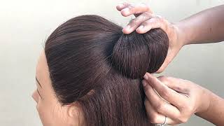 Hairstyles Bun With Clutcher || Beautiful Hairstyle For Wedding || Clutcher Bun Harstyle