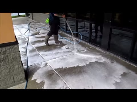 New surfactant use in pressure washing concrete