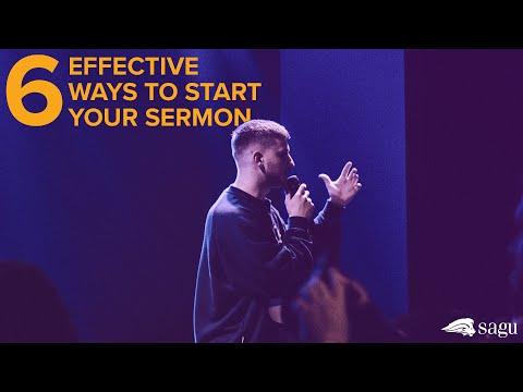 6 Effective Ways to Start your Sermon