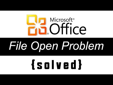 MS office Can't Open or Repair Problem Fix - word or Excel Document