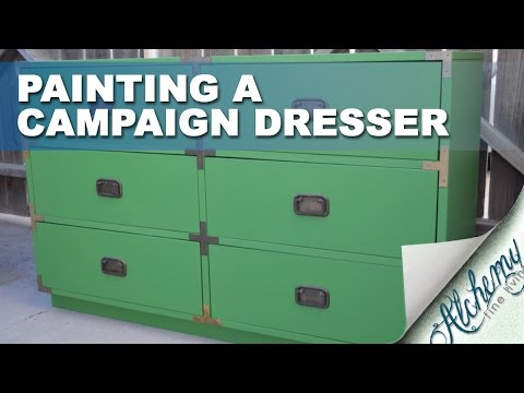 Painting a campaign dresser