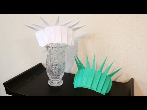 Origami The Statue Of Liberty Crown 折り紙  自由の女神 王冠