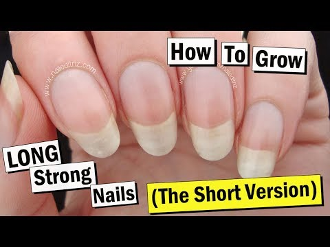 How to Grow Your Nails LONG & STRONG... The SHORT Version!