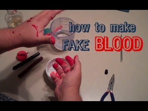 How to Make Fake Blood