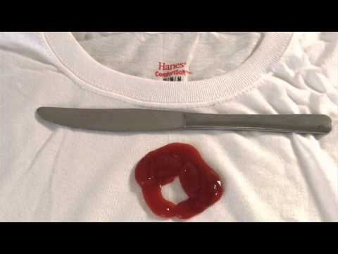 Quick Tip: Ketchup Stain on a White T-Shirt (VIDEO)