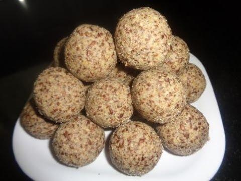 Alsi Pinni Recipe - Alsi ke laddu Recipe - Flaxseeds laddoo - alsi ke laddoo - teesi ke laddoo -