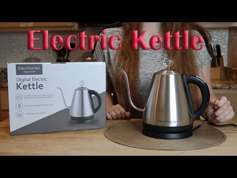💥 ELECTRIC KETTLE ELECHOMES Gooseneck (Tea, Drip Coffee) Crystal Knob Review- COUPON CODE! 👈