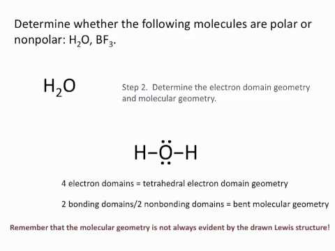 Molecule Polarity - Chemistry Tutorial