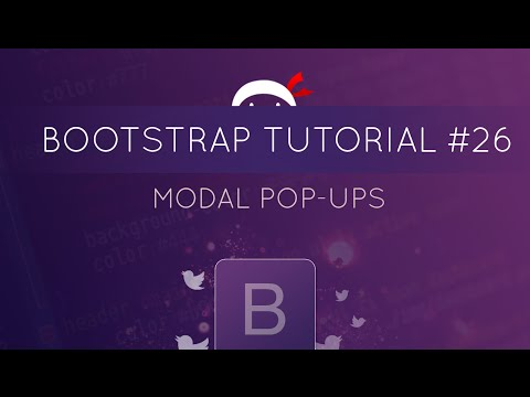 Bootstrap Tutorial #26 - Modal Pop-ups