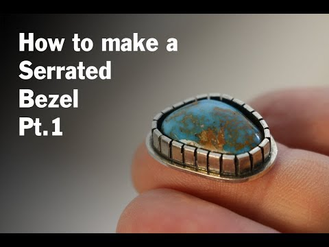 Making a Serrated / Castellated Bezel Ring - Part 1