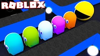 ESCAPE THE KILLER PACMAN IN ROBLOX!