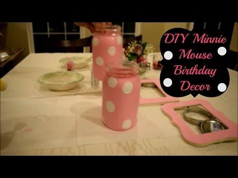 DIY Minnie Mouse Theme Birthday Decor