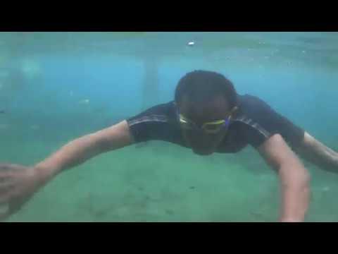 Ketika main air  di Umbul Ponggok Klaten